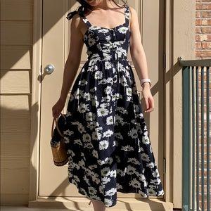 NWT UO Positano Tie-Shoulder Daisy Midi Dress